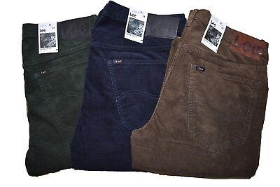 LEE PANTALONI DA uomo in di velluto a coste jeans daren