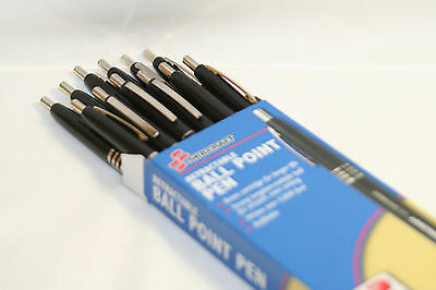 Skilcraft U.S. Government Retractable Ballpoint Pens Fine Point, Black Ink 12 EA 6