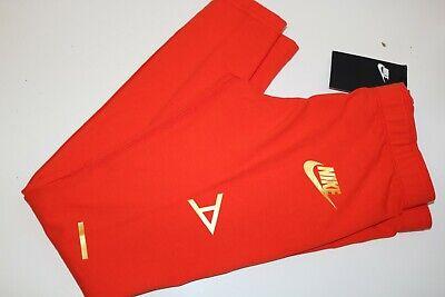 Nike Air Sport Metallic Cotton Leggings Girls - Red Aq9176-634 - M / 10-12 Years 9
