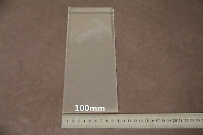 50x Self Adhesive Self Seal Resealable Clear Plastic Cellophane Bag 10x25cm New 3