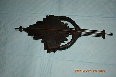 Antique cuckoo clock small pendulum for project 3