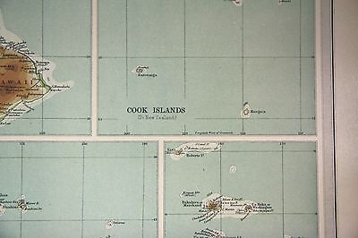 Pacific Islands Hawaii Fiji Vintage 1922 Times World Atlas