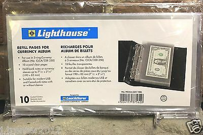 Lighthouse Currency Holder Album Leather Regular Banknote 30 Binder Page Book 7