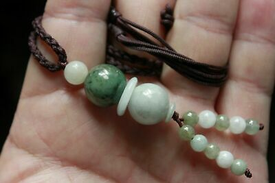 "Gemstone 100% Natural ""Grade A"" Jadeite JADE Handmade Beaded Necklace #305 7"