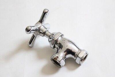 antique faucet shut off angle valve | vtg deco victorian bath plumbing cross 7