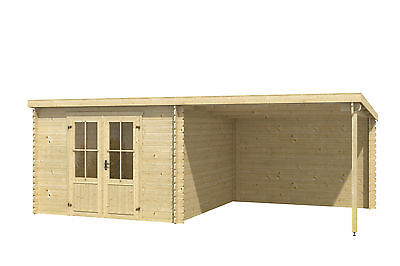 gartenhaus ca 600x300 cm ger tehaus blockhaus schuppen holzhaus holz 28 mm eur. Black Bedroom Furniture Sets. Home Design Ideas