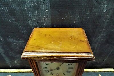 Small Red Walnut English Library Clock/Timepiece 4