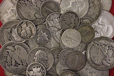 MAKE OFFER 1 Standard Ounce 90% Silver Junk Coins 1 Half Dollar Included Bullion