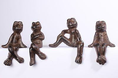 Frösche Froschgruppe aus Gusseisen Deco Garten  Braun Figur Skulptur