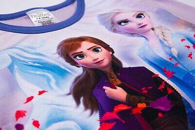 Offical Girls Disney Frozen II Pyjama Anna Elsa Olaf Premium PJs Sleepsuit Set 4