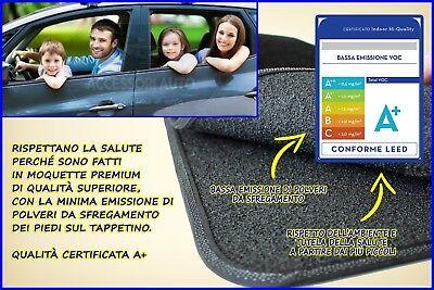 Tappetini Moquette Auto per Nissan Qashqai 2007>2014 Tappeti + bottoni fissaggio 3