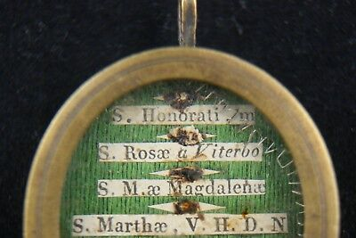 † 19Th St Martha + St Mary Magdalene Multi Reliquary 7 Relics 1St Class Italy † 4