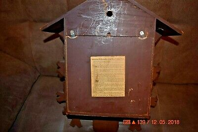 Vintage 8 day Heco Cuckoo Clock Box only for parts 6
