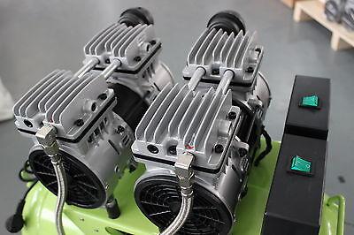 236L/min Dental Air Compressor Noiseless Oilless Motors GA-62 60L Tank AU 220V 6