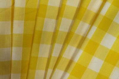 """1//8/"""" wide Polycotton Gingham Fabric 44/""""//112cm wide 65/% Polyester35/% Cotton"""