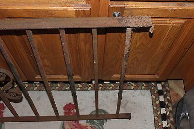 Vintage Wrought Cast Iron Architectural Garden Yard Art Fence Railing-LQQK