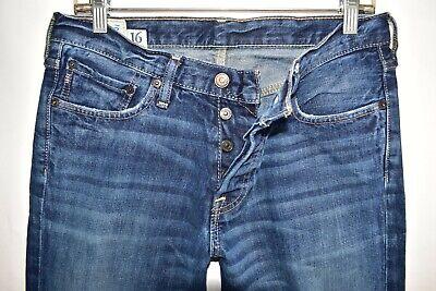 Abercrombie Fitch Kilburn Low Rise Boot Cut Boys Men Jeans Size 16 Meas 30x31 4