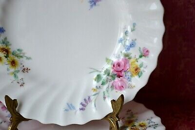 "Royal Doulton Arcadia Green Backstamp Set of 2 Side, Bread & Butter Plates, 6.5"" 6"
