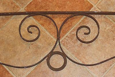 Vintage Wrought Iron Architectural Salvage Garden Trellis-6' Long-Curves-LQQK 6