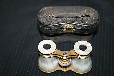ANTIQUE BRASS OPERA Glasses & Mother Of Pearl wcase Binoculars GREAT FOR EVENTS 4 • CAD $119.70