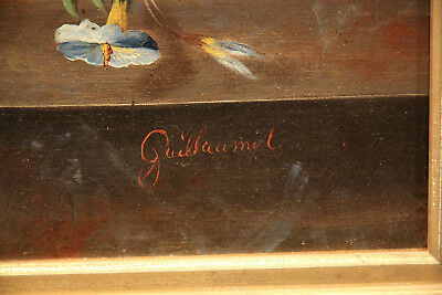 Impressive  Antique 19th Century French Painting Flower Still Life 9