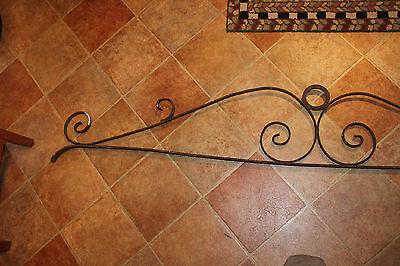 Vintage Wrought Iron Architectural Salvage Garden Trellis-6' Long-Curves-LQQK 2