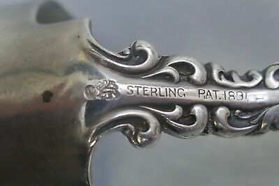 Antique 1890's Whiting Mfg. Co. Sterling Cheese Scoop With Louis XV Pattern 11