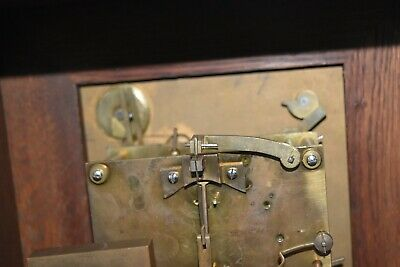 Lovely Antique Winterhalder & Hofmeier Bracket Clock [Oak Cased] 11