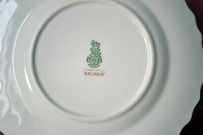"Royal Doulton Arcadia Green Backstamp Set of 6 Bread & Butter Plates, 6.25"" 9"
