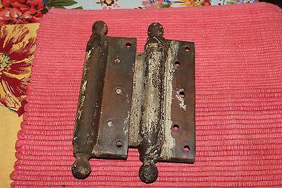 Antique Bommers Door Hinges-Pair-1800'S Patent Dates-Heavy Duty Door Hinges 3