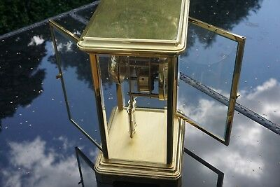 A Large Four glass mantel carriage clock by Angelus 6