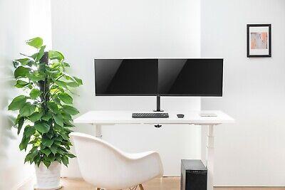 Dual Monitor Schwenkarm Tisch Halterung Doppel Halter 2x 8KG Office-414 7