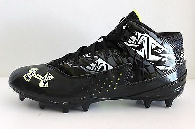 UNDER ARMOUR Mens Blk 1240672 On-Field Ripshot Lacrosse Football Cleats 12 - NEW