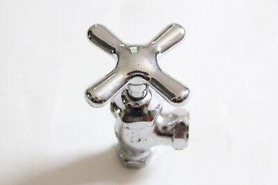 antique faucet shut off angle valve | vtg deco victorian bath plumbing cross 10