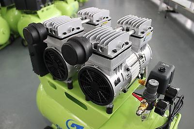 310L/min Dental Noiseless Oilless Air Compressor GA-82 60L 1-Driving-4 Stable CE 9