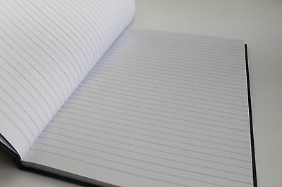 Hardback Case Pad A4//A5//A6 Quality Manuscript Ruled Notebook Feint or Index