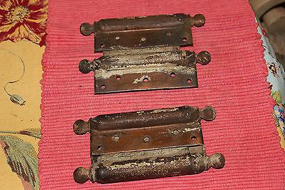 Antique Bommers Door Hinges-Pair-1800'S Patent Dates-Heavy Duty Door Hinges 5