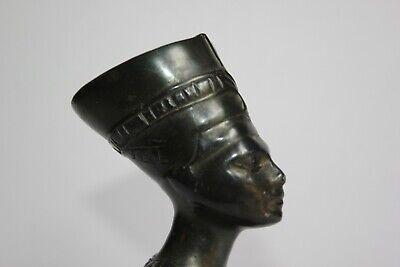 19th Century - Antique Egyptian Bronze Nefertiti Statue 7