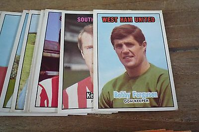 A&BC Orange Back Football Cards 1970 - First Series VGC! Pick The Cards You Need 2