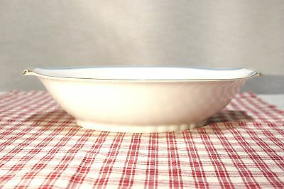 RARE! Narumi China OCCUPIED Japan RHAPSODY Blue Lily Oval open Vegetable Bowl 2