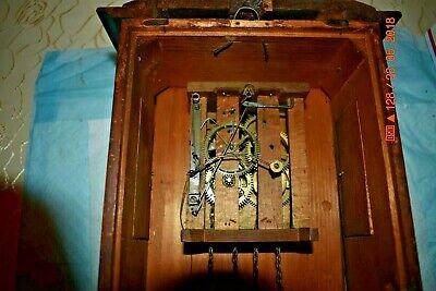 ANTIQUE CUCKOO clock WALL CLOCK WOODEN PLATES CLOCK BEHA??? for parts 7