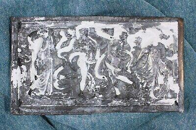 Placa neoclásica de galvanoplastia. Ninfas bailando. Neoclassical electroplating 6