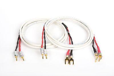 2//2 Pair Banana Belden 5000UE 12 AWG High Quality Speaker Cable 15 ft.