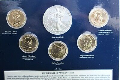 2012 US Mint Annual Uncirculated Dollar 6 Coin Set ASE Presidents Sacagawea $1 3
