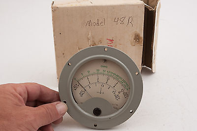 Hickok Electrical Instrument Gauge 48R Steampunk (E3R-2) Ohms Meter 481 345 c58 6