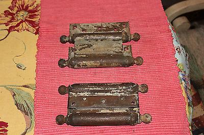 Antique Bommers Door Hinges-Pair-1800'S Patent Dates-Heavy Duty Door Hinges 6