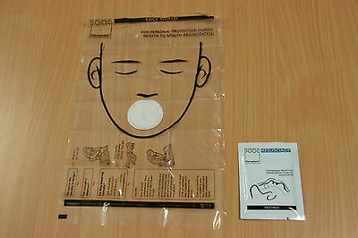 50 x Steroplast  CPR Resuscitation Face Shield with Filter, First Aid Resus Mask 2