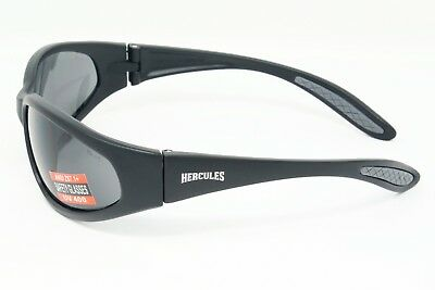 Unbreakable wraparound motorcycle sunglasses / Biker glasses Inc Pouch & Postage 2