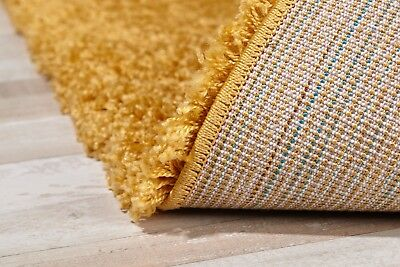 Modern Small - Large Rugs Mustard Yellow Gold and Various Colours Shaggy Rug 4