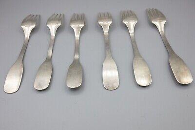 "Hans Hansen Susanne Sterling Silver Luncheon / Salad Fork – 6 1/2"" – Set of 6 3"